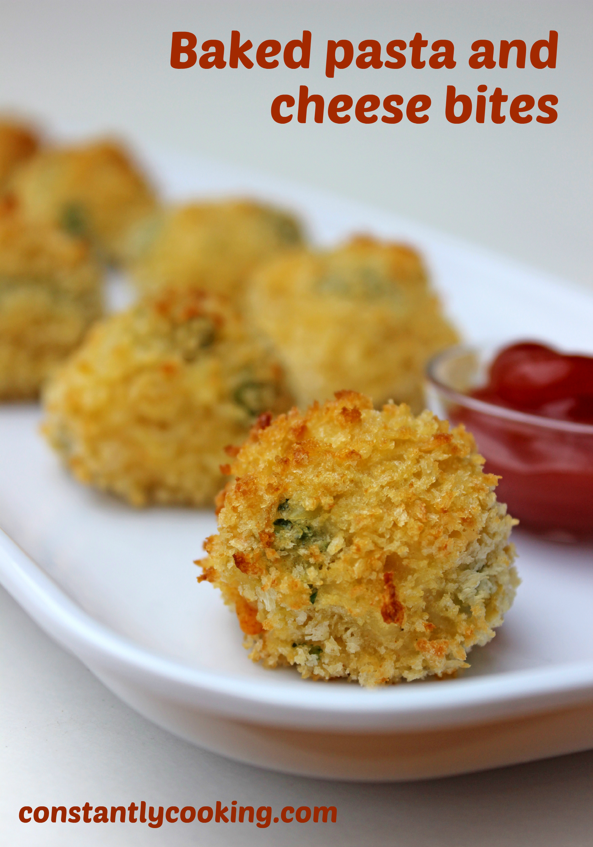 it's a mac and cheese switchup as cheese-sauce coated orzo gets breaded and baked for a delicious treat