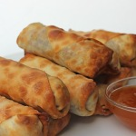 egg rolls baked in the oven instead of deep fried are crispy, delicious and healthier, too!