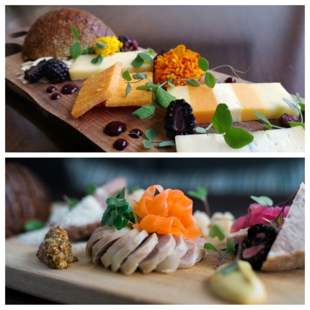 Beautiful, tasty cheese and charcuterie boards prepared by Carleton Place's Black Tartan Kitchen are a delightful apres-treat at Mahogany Salon and Spa.