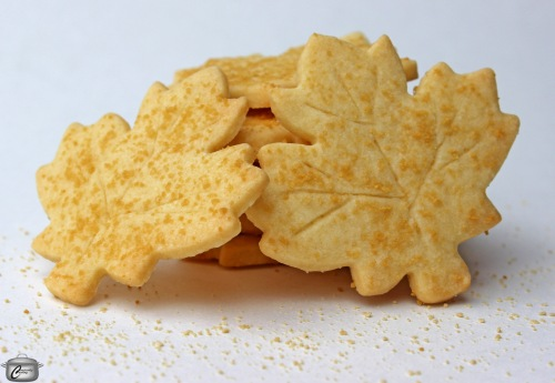 Maple shortbread cookies are a pretty, delicious and easy way to celebrate maple syrup season.