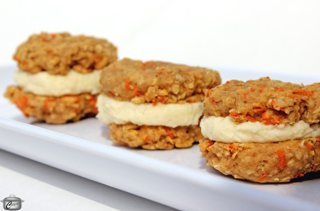 recipe for carrot cake cookies with maple cream cheese frosting