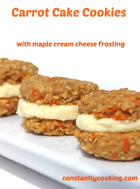 carrot cake cookies with maple cream cheese frosting recipe
