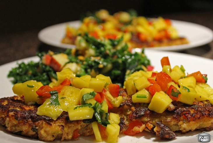 salmon cakes with fruit salsa